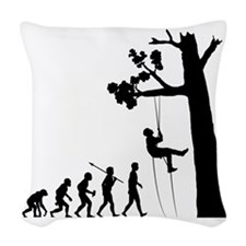Tree-Climbing2 Woven Throw Pillow