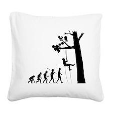 Tree-Climbing2 Square Canvas Pillow