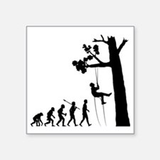 "Tree-Climbing2 Square Sticker 3"" x 3"""