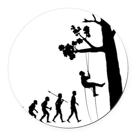 Tree-Climbing2 Round Car Magnet