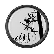 Tree-Climbing2 Large Wall Clock