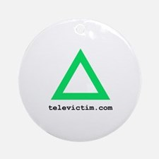 """green triangle"" Ornament (Round)"