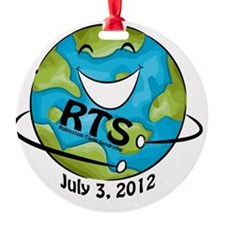 RTS Logo with Awareness Date Ornament