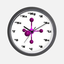 Elements Clock - Purple Wall Clock