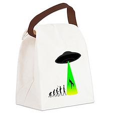Alien-Abduction Canvas Lunch Bag