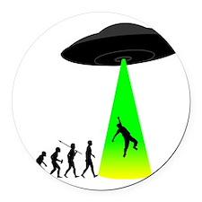 Alien-Abduction Round Car Magnet