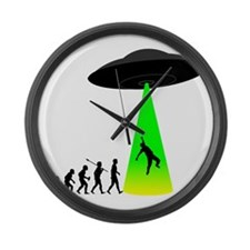 Alien-Abduction Large Wall Clock