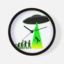 Alien-Abduction4 Wall Clock