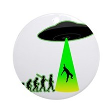 Alien-Abduction4 Round Ornament