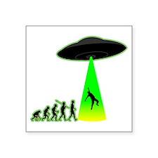 """Alien-Abduction4 Square Sticker 3"""" x 3"""""""