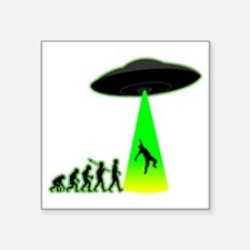 "Alien-Abduction4 Square Sticker 3"" x 3"""