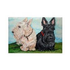 Scottish Terrier Companions Rectangle Magnet