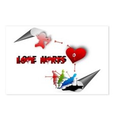 Love really hurts Postcards (Package of 8)