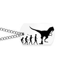 Eaten-By-Dinosaur Dog Tags