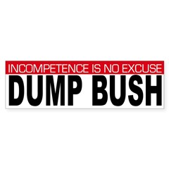 Incompetence is No Excuse (sticker)