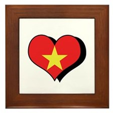 I Love Vietnam Framed Tile