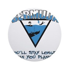 Bermuda Triangle B - light Round Ornament