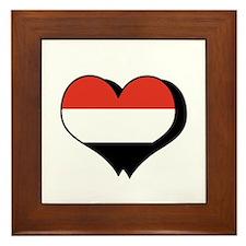 I Love Yemen Framed Tile