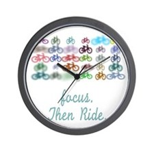 Focus. Then Ride. Wall Clock