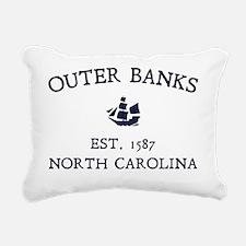 Outer Banks Established  Rectangular Canvas Pillow
