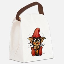 Cute Winter Trollelf With Yellow  Canvas Lunch Bag