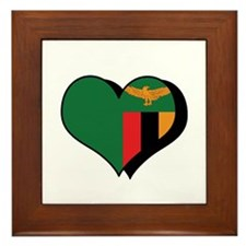 I Love Zambia Framed Tile