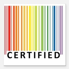 "Certified Square Car Magnet 3"" x 3"""