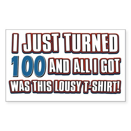 100 yr Sticker (Rectangle)