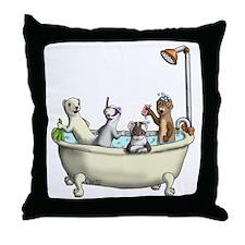 Rub a Dub Tub Throw Pillow