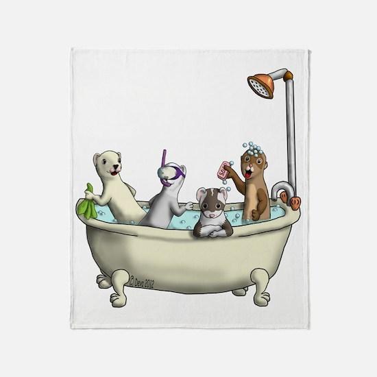 Rub a Dub Tub Throw Blanket