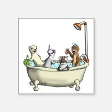 "Rub a Dub Tub Square Sticker 3"" x 3"""