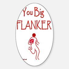Rugby Big Flanker 6000 Sticker (Oval)