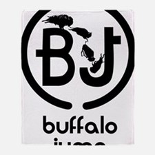 Buffalo Jump logo brand Throw Blanket