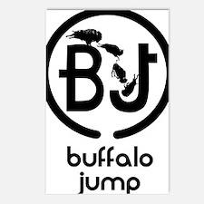 Buffalo Jump logo brand Postcards (Package of 8)