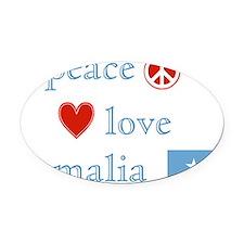 Peace Love Somalia Oval Car Magnet