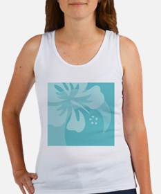 Hibiscus Aqua Beer Label Women's Tank Top