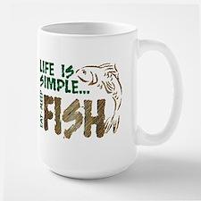 Life Is Simple...FISH Large Mug