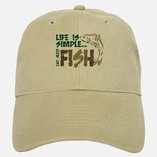 Life Is Simple...FISH Cap