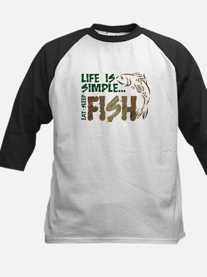 Life Is Simple...FISH Kids Baseball Jersey
