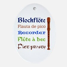 Multilingual Recorder Keepsake Ornament