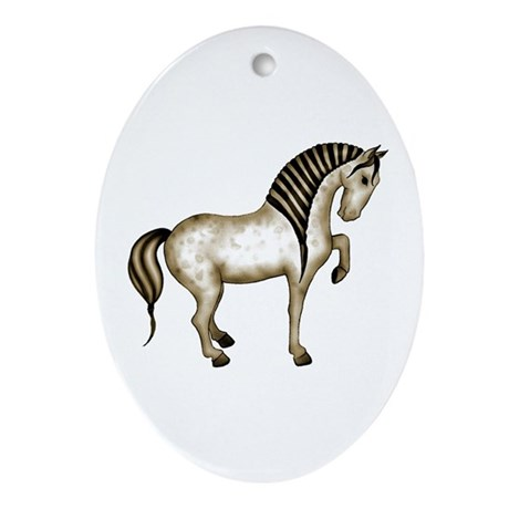 Tang Horse #3 Oval Ornament