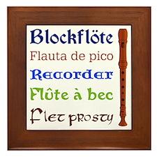 Multilingual Recorder Framed Tile