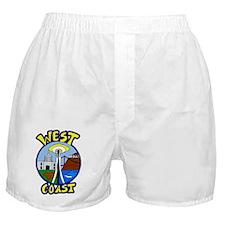West Coast Regional Design for Teen S Boxer Shorts