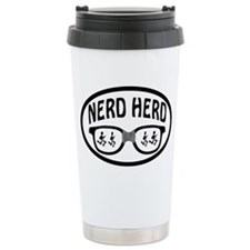 Nerd Herd Glasses Oval Travel Mug