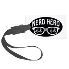 Nerd Herd Glasses Oval Black Luggage Tag