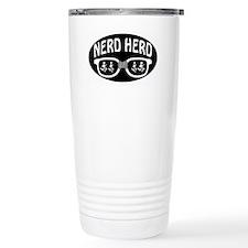 Nerd Herd Glasses Oval Black Travel Mug