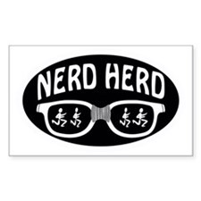 Nerd Herd Glasses Oval Black Decal