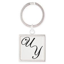 UY Logo Large Square Keychain