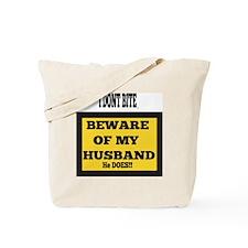 Beware of husband graphic Tote Bag