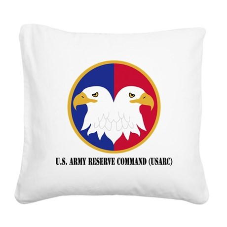 U.S. Army Reserve Command Square Canvas Pillow
